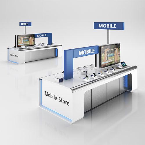 cellular sale stand 3d model max obj mtl 3ds c4d 1