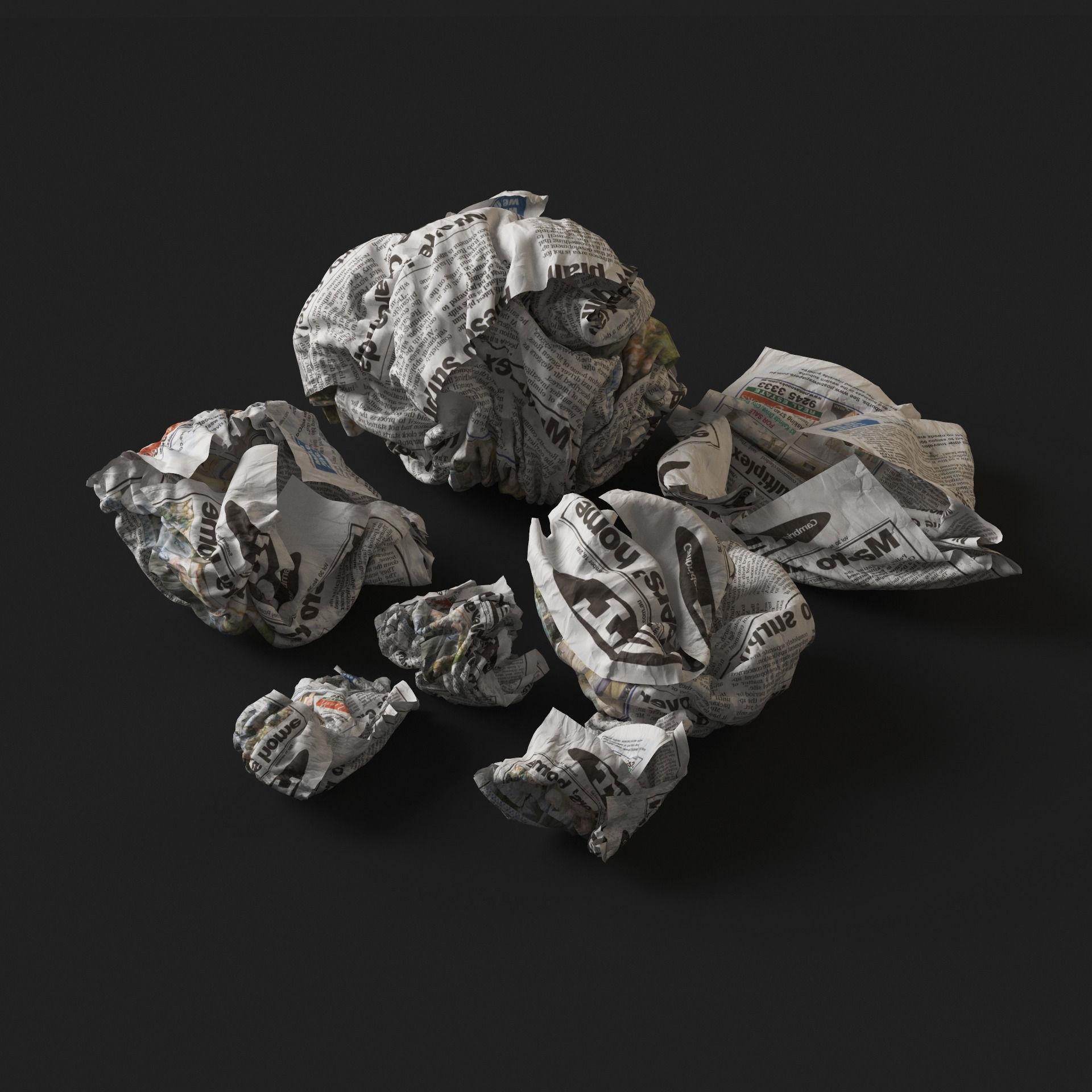 Crumpled Paper | 3D model