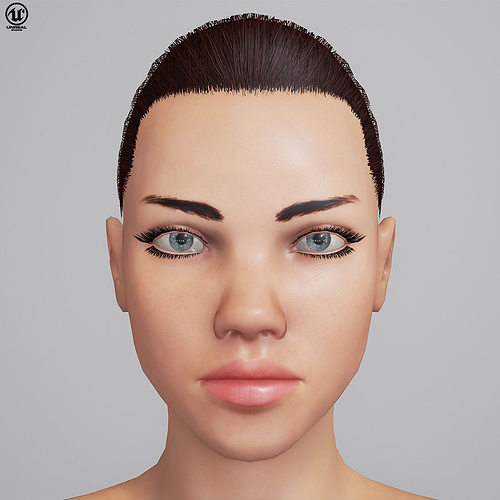 adriana unreal 4 character 3d model low-poly rigged animated fbx tga uasset 1