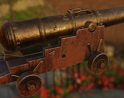 3D model Spanish royal navy cannon