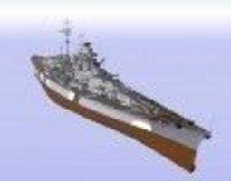 3D model Battleship Bismark