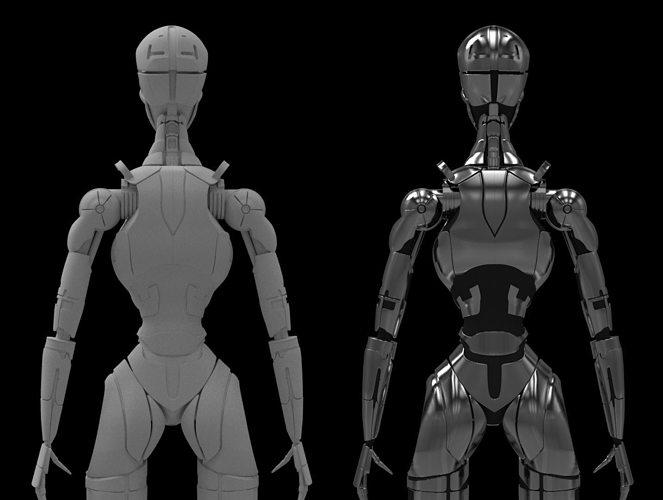 terminatrix t3 robot 3d model obj mtl fbx ma mb tga 1
