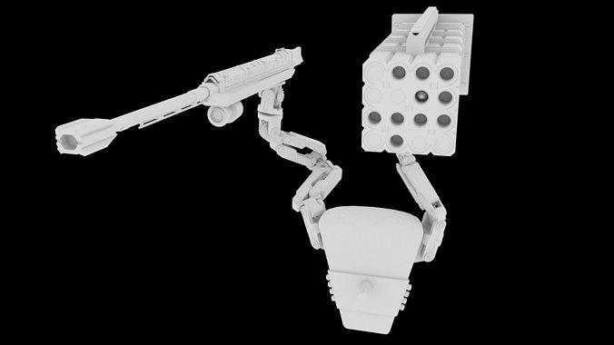 edge of tomorrow weapon 3d model obj mtl fbx ma mb 1