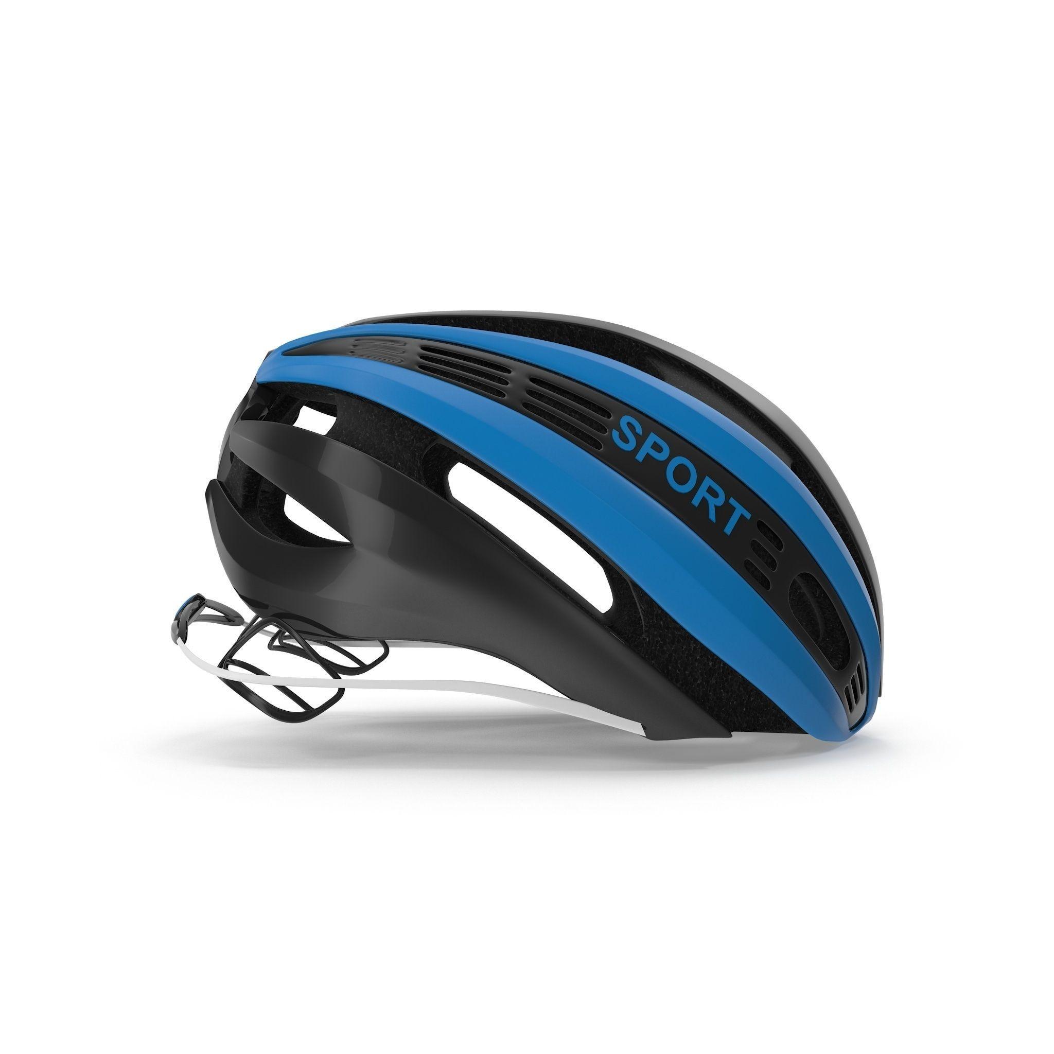 Blue Bicycle Helmet | 3D model