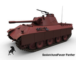BeobachtungPanzer  Panther 3D Model