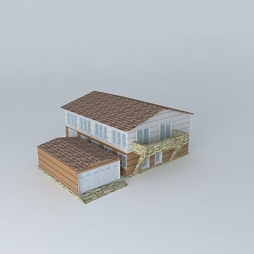 A Typical Low-Poly Family House/Condominium