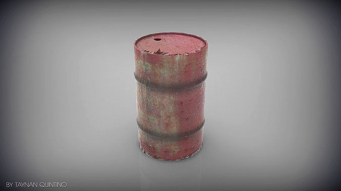 barrel low and highpoly 3d model max obj mtl 3ds fbx 1
