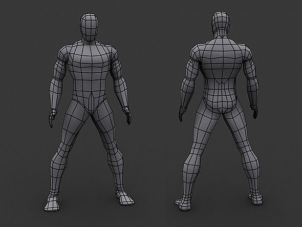 how to make easy human 3d models