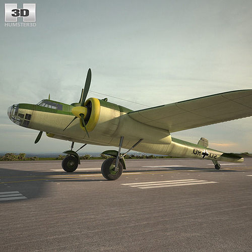 dornier do 17e 3d model max obj mtl 3ds fbx c4d lwo lw lws 1