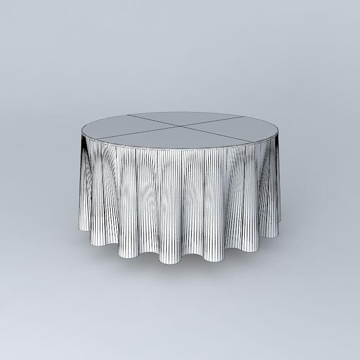 round table 120 cm 4 feet covered free 3d model max obj 3ds fbx stl dae. Black Bedroom Furniture Sets. Home Design Ideas