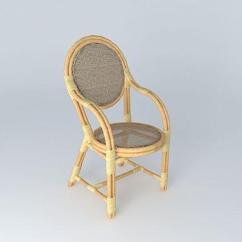 Rattan Chairs 2 3d Model Max Obj 3ds Fbx Stl Dae 1 ...