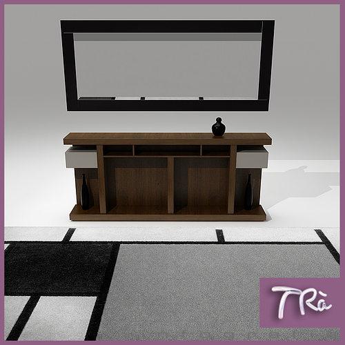 foyer table 3d model max