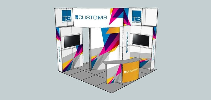 Exhibition Stand Sketchup : The exhibition portable t airframe middle stand d