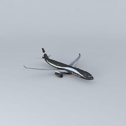 skyfoam airways airbus a330 343x 3d model max obj 3ds fbx stl dae 1