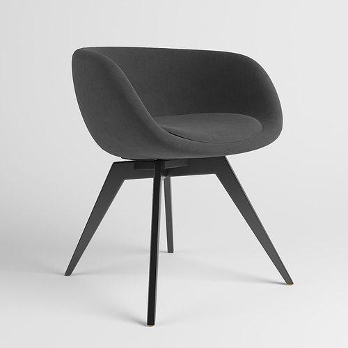 scoop low chair 3d model max obj mtl 1