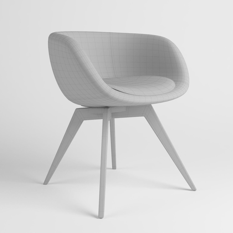 ... Scoop Low Chair 3d Model Max Obj 6