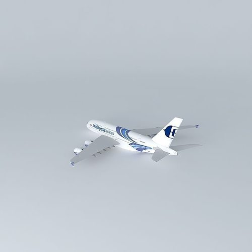 malaysia airlines airbus a380 3d model max obj mtl 3ds fbx stl dae 1