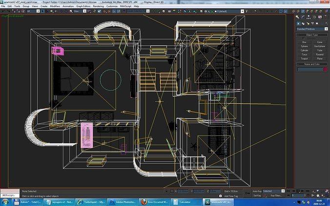 Home Interior Floor Plan 02 3d Model Max Obj Dwg Mtl