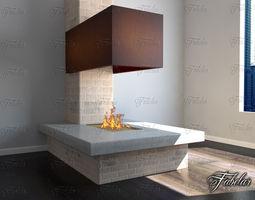 Fireplace 3D model stove