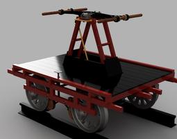 Hand Car  Pump Trolley 3D Model