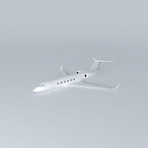 template gulfstream g550 3d model max obj mtl 3ds fbx stl dae 1
