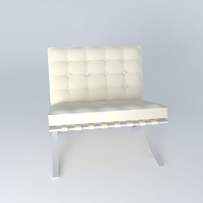 ... Barcelona Chair 3d Model Max Obj 3ds Fbx Stl Dae 3 ...