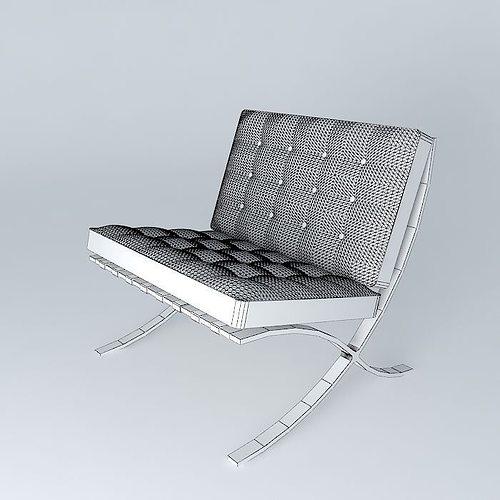 ... Barcelona Chair 3d Model Max Obj 3ds Fbx Stl Dae 5