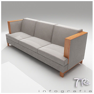 Awesome ... Living High Arm Sofa 3d Model Max 3 ...