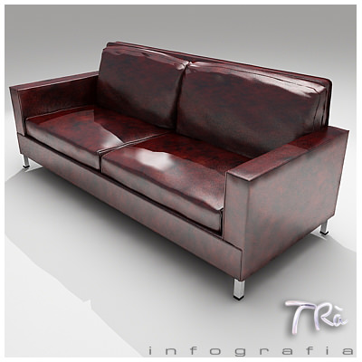... Old Leather Sofa 3d Model Max 2 ...