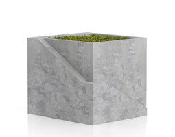 3d sqaure moss pot