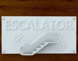 3d printable escalator sign stl obj 3d model obj stl