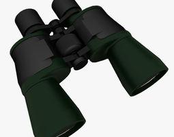 3D asset Binoculars Green