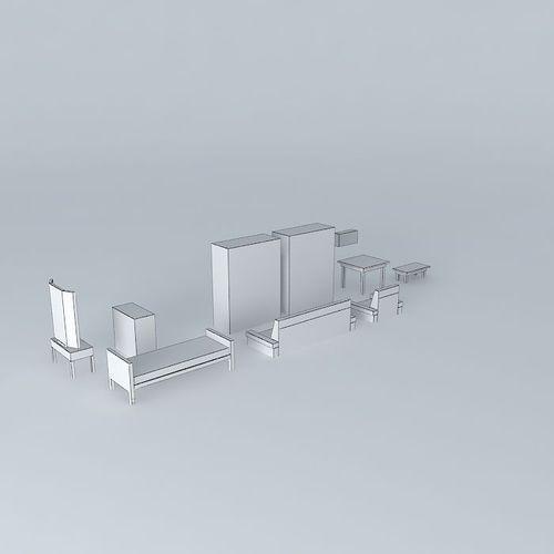 Wood Furniture Free 3d Model Max Obj 3ds Fbx Stl Dae