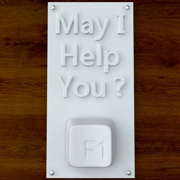3d Printable May I Help YOu sign STL OBJ
