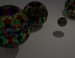 Decorative Spheres 3D asset