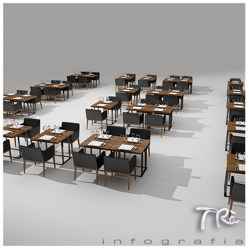 Restaurant Furniture Revit : Restaurant tables area d model max cgtrader