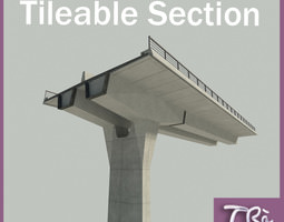 HIGHWAY VIADUCT SECTION 3D model