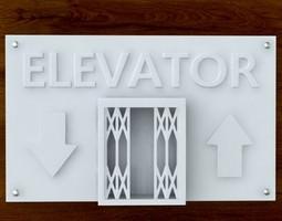 3d printable elevator sign stl obj 3d model obj stl