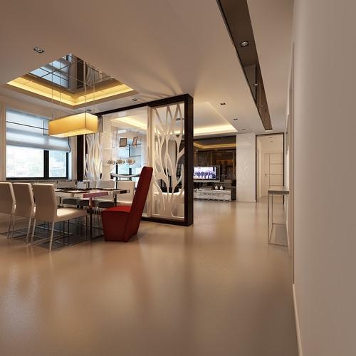 Living room dining room interior 3d model max for Dining room 3d max model