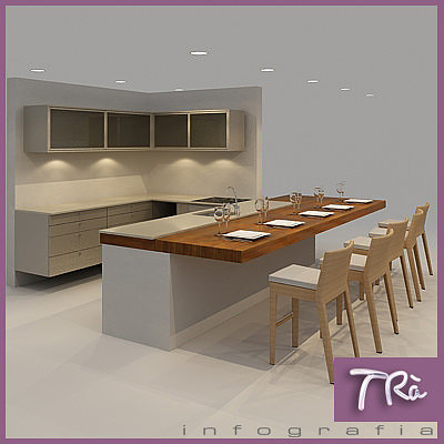 Restaurant Kitchen 3d Model 3d open kitchen | cgtrader