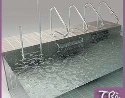 3d model swimming pool ladders