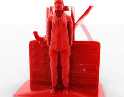 jhon f kennedy 3d printable model