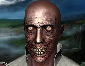 3D model Scary zombie face