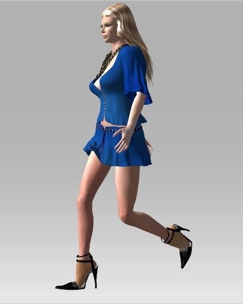 3d model of blonde - photo #22