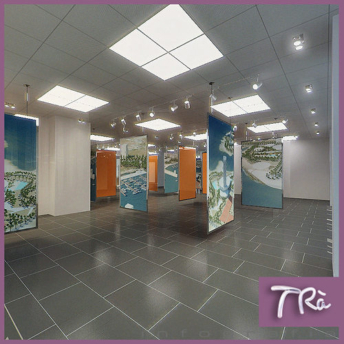 Exhibition Room D : Exhibition office room d cgtrader