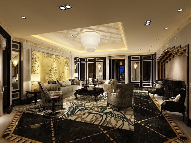 Photoreal Fancy Living Room 3d Model