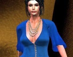blue blouse 3d model