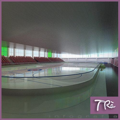 indoor ice skating rink 3d model max 1