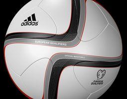 adidas official qualifier ball 2016  3d model obj blend mtl