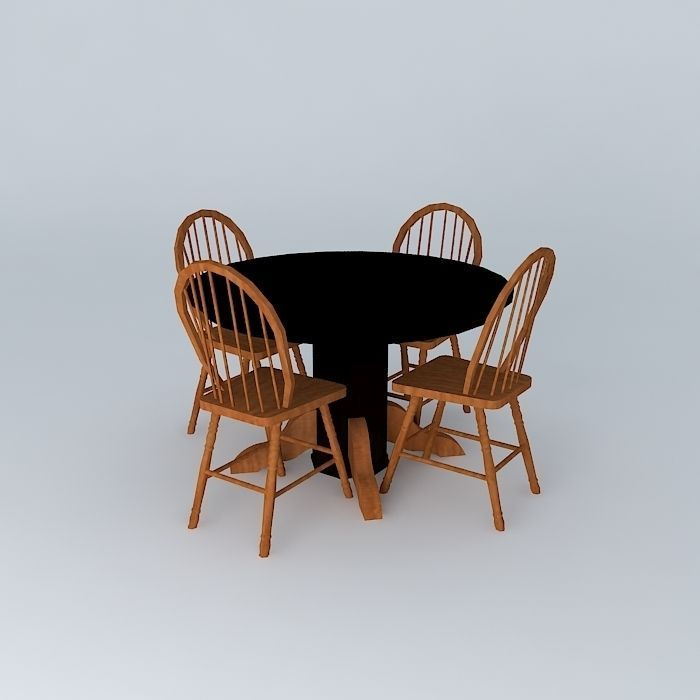 Dining table free 3d model max obj 3ds fbx stl dae for Dining room table 3ds max